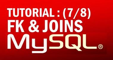 mysql tutorial for beginners (7/8) : Foreign Keys (FK) & Joins