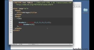PHP and MySQL tutorial: Arrays | lynda.com