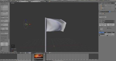 Blender 2.65 – Quick Tutorial VII – Cloth Simulation with Wind Force