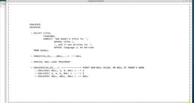 COALESCE, MYSQL TUTORIAL, PART 35