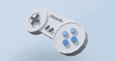 Blender Tutorial: Low Poly Game Controller