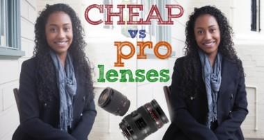 Cheap lens vs pro lens – DSRL photography tutorial
