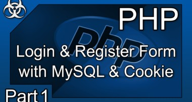 Login & Register System Form with Cookies PHP & MySQL Tutorial Part 1