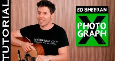 Cómo tocar Photograph en guitarra Tutorial guitar lesson | Guitarraviva