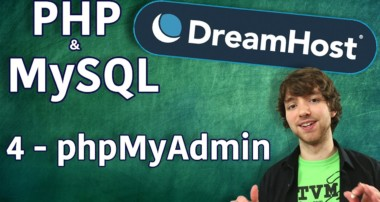 PHP MySQL in DreamHost Tutorial 4 – phpMyAdmin
