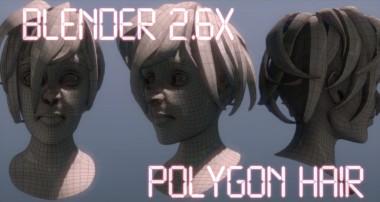Blender 3d: Polygon Hair