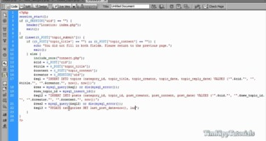 PHP Series – Building A PHP MySQL Forum Tutorial Series Part 3.3 – Creating Topics