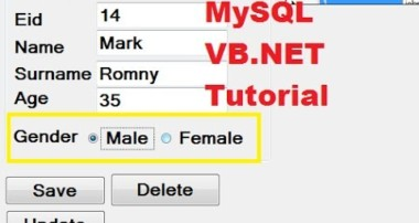 MySQL VB.NET Tutorial 18 : Checkbox , radiobutton and groupbox with Database
