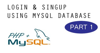 Login & SignUp – MySQL + PHP Tutorial – Part 1