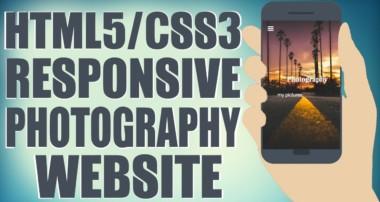 HTML5/CSS3 Responsive Photography Website – Start To Finish Web Design Tutorial