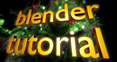 Weihnachtsbaum – Blender 3D Tutorial deutsch