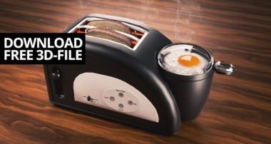 Modeling bread toaster in Blender