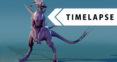 Creature Creation – Modeling, Sculpting, Texturing, Rigging (BLENDER TIMELAPSE)