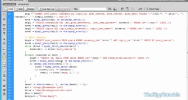 PHP Series – Building A PHP MySQL Forum Tutorial Series Part 6 – Email Integration