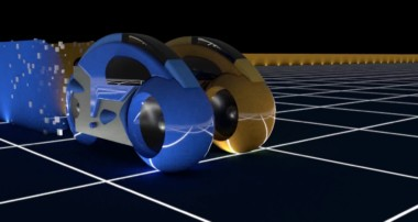 Tron Light Cycles recreated in Blender