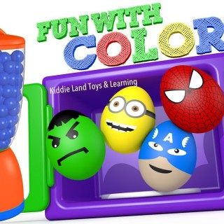 Learn Colors with Microwave Blender and Street Vehicles Superhero Surprise Eggs Fun 3D Animation