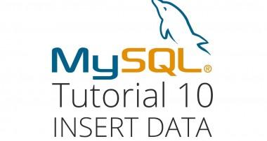 MySQL tutorial 10 – Inserting a new row