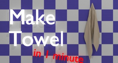 Make Towel with Blender – Blender 1 minute tutorials