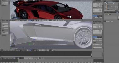 New Lamborghini Aventador Blender tutorial Car Paint and envirement set up
