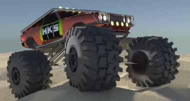 Blender Car rigging Monster truck process tutorial