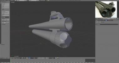 Blender 3D – Modeling #23 Benelli M4 Super 90 – Part 1
