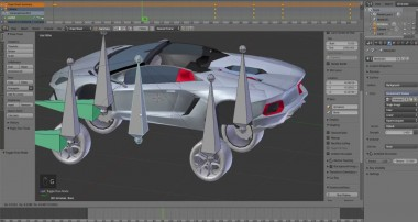 Blender Animation Lamborghini rig very simple tutorial