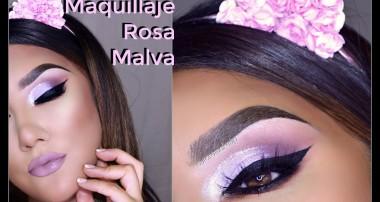 Maquillaje en ROSA MALVA dramatico/ Dramatic Pink Mauve makeup tutorial | auroramakeup