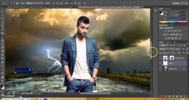 Photoshop CS6 Manipulation Photo Effects Tutorial | Change Background and blending