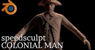 BLENDER SCULPT – The Colonial Man [TIME LAPSE]