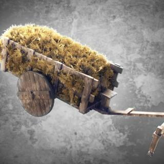 How to model a bull cart in Blender