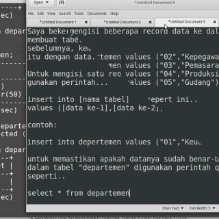 MySQL Database Tutorial #5: Mengisi tabel dengan data