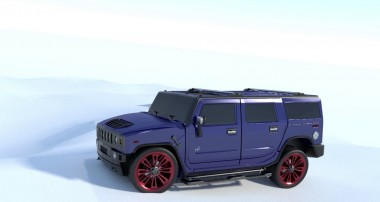Hummer 3d animation Blender result