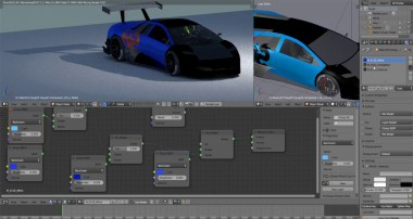 Lamborghini Super Car Paint  node edit Blender tutorial