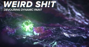 WEIRD SH!T EP002 – Devouring Dynamic Paint [BLENDER]