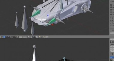 Lamborghini Aventada Blender tutorial Rigging process