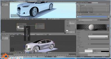 របៀបកែរឡានស៊េរីថ្មី Super Car Concept customize tutorial in Blender