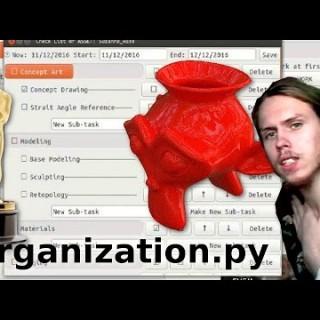 Organization.py – Suzanne_Waze – in Blender lol AWARD WINNING TUTORIAL