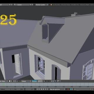 Modéliser Une Maison Blender 3d Tutoriel SVM6 N°25 La lucarne Intérieur