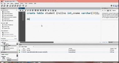 MySQL Tutorial Create table insert and select in workbench