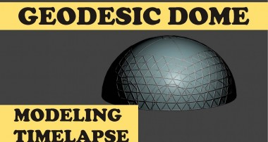 Planetary Domes Greenhouse Dome – Blender Modeling Timelapse