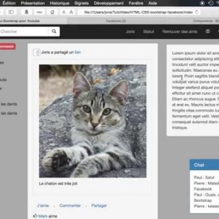 HTML + CSS : Utiliser Bootstrap pour reproduire l'accueil Facebook