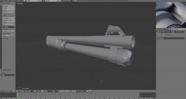Blender 3D – Modeling #26 M4 Super 90 – Part 2 (dual video)