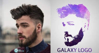 Photoshop Tutorial – Galaxy Logo Design From Face