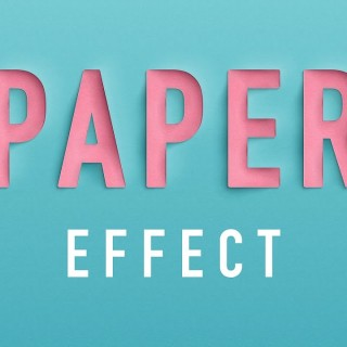Photoshop Tutorials – Paper Cutout Text Effect