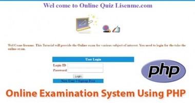 Online exam system using php & Mysql tutorial