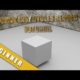 Blender 2.68 Super Easy Very Basic Cycles Render Tutorial