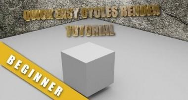 Blender 2.68 Super Easy Very Basic Cycles Render Tutorial