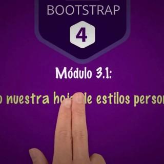 [Curso de Bootstrap 4] 3.1 Cargando nuestros estilos CSS personalizados