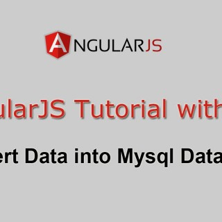 AngularJS Tutorial with PHP – Insert Data into Mysql Database