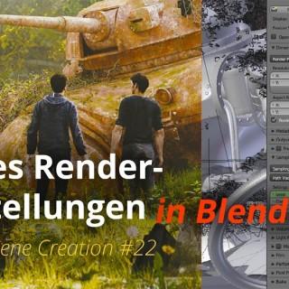 MSC #22 – Cycles Render-Einstellungen (Blender Tutorial DE)